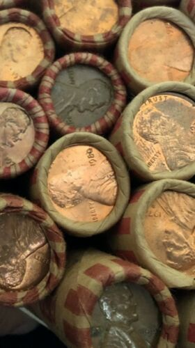 1959-1960s-1970s-1982 Lincoln Penny Key Mixed Dates 1 Lot Of 50 Coin set BU CIR