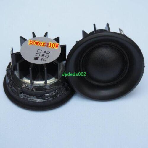 "2pcs 40mm 1.5/""inch tweeter HIFI Speaker loudspeaker 6Ω//8Ω 10W With heat sink"