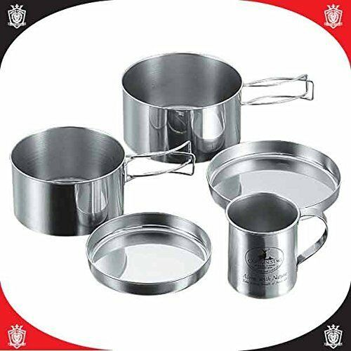 CAPTAIN STAG M-8578 Stainless Steel Camping Tableware Mug Set Outdoor From japan