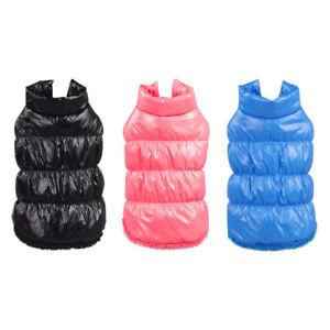 Winter Welpe Kleidung Haustier Katze Warm Fleece Dicker Weste Weich Hund Jacke #