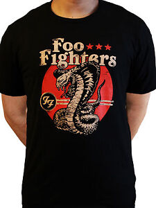 df48967711b Foo Fighters T Shirt Cobra Snake Official Black Mens Dave Grohl ...