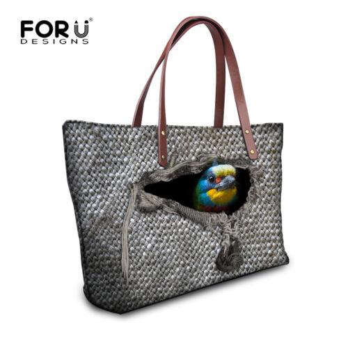 Animals Print Tote Handbags Hobo Shoulder Messenger Bag for women Girl Crossbody