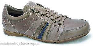 LEVI'S Firebaugh Chaussures Baskets cuir beige fonc