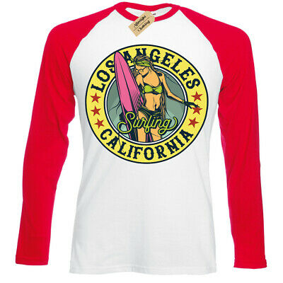 Los Angeles Surfing T-Shirt california beach usa Vest Womens