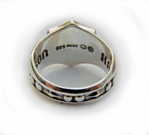 Motor Cicles Biker Shield Ring Mens Sons of Anarchy sterling silver 925 #1264