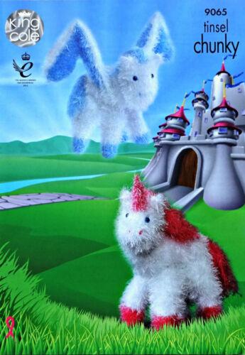 KNITTING PATTERN Unicorn /&Pegasus Toy Tinsel Yarn KNITTING PATTERN KingCole 9065