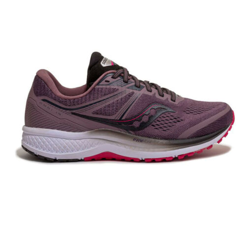 Saucony Womens Omni 19 Running Shoes Trainers Sneakers Purple Sports Breathable