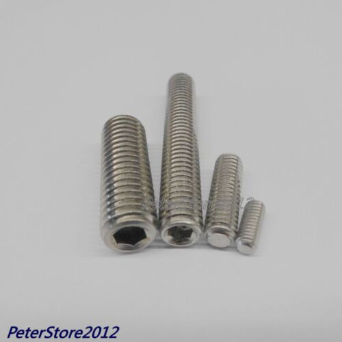 100 Boulons DIN 913 Acier inoxydable VA ISK Asticots vis m4 4 mm ISO 4026