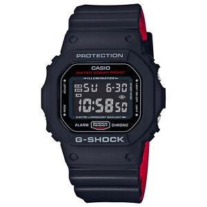 CASIO-DW-5600HR-1ER-G-Shock-BLACK-amp-RED