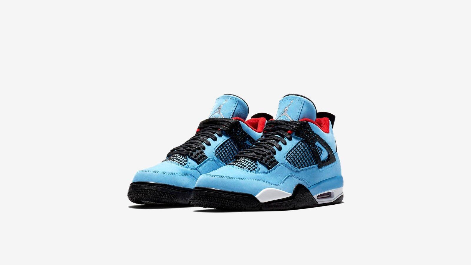 Nike Air Jordan 4 Retro Travis Scott  Cactus Jack  Size 15 [Force 1 Off White]
