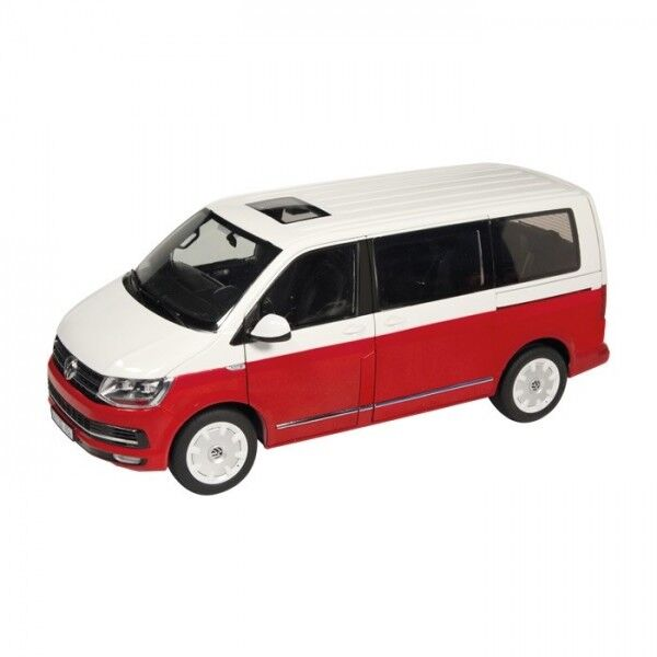 1 18 NZG VW t6 Bus Multivan Rosso Bianco 9541 10