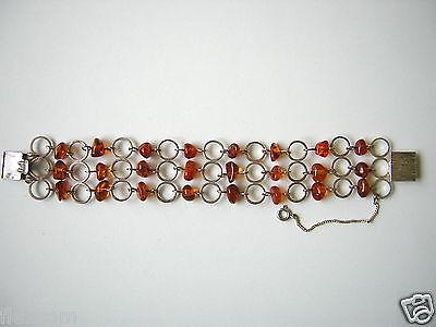 Loose Gemstones Antikes Fischland Honig Natur Bernstein Armband Armkette 835 Silber 20,6 G Amber Loose Diamonds & Gemstones