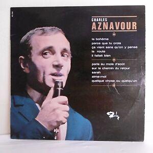 33T-Charles-AZNAVOUR-Vinyl-LP-12-034-LA-Bohemia-PARCE-QUE-ONE-SIZE-CROSS-BARCLAY