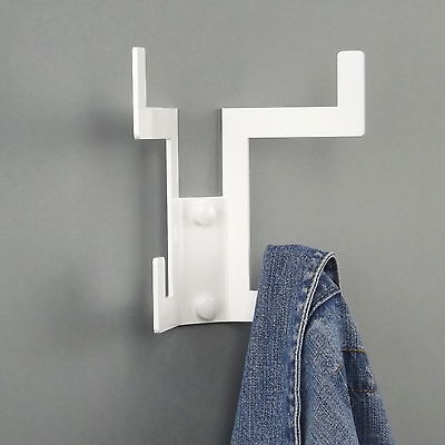 Quad Designer Coat Hook Rack Storage - Pack of 2