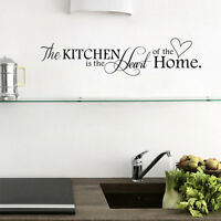 Kitchen Home Letter Heart Pattern PVC Removable Wall Sticker Art Mural Home Deco