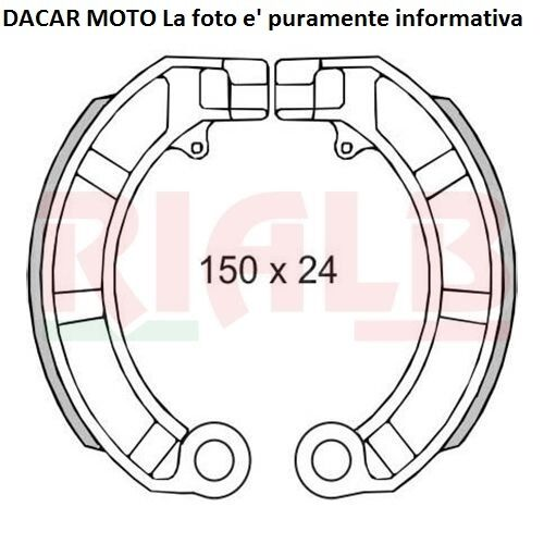 Zapatas de Freno Traseros Piaggio 50 Vespa Pk S Automático 1989 RMS 225120160