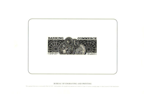 B247 Souvenir Card Banking and Commerce Postage Stamp E Coins P 2000 B