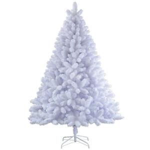 Albero Di Natale Bianco.Dettagli Su Albero Di Natale Bianco 180 Cm Folto Artificiale Alberi Natalizi
