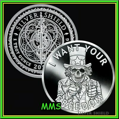 """#7 in the /""""USSA 2020/"""" Series 2020 Silver Shield UNCLE FEAR 1 oz Silver Proof"""