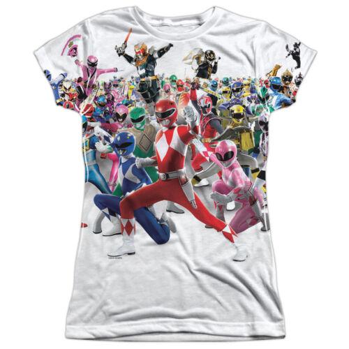POWER RANGERS OVERLOAD Sublimation Women/'s Junior Graphic Tee Shirt SM-2XL