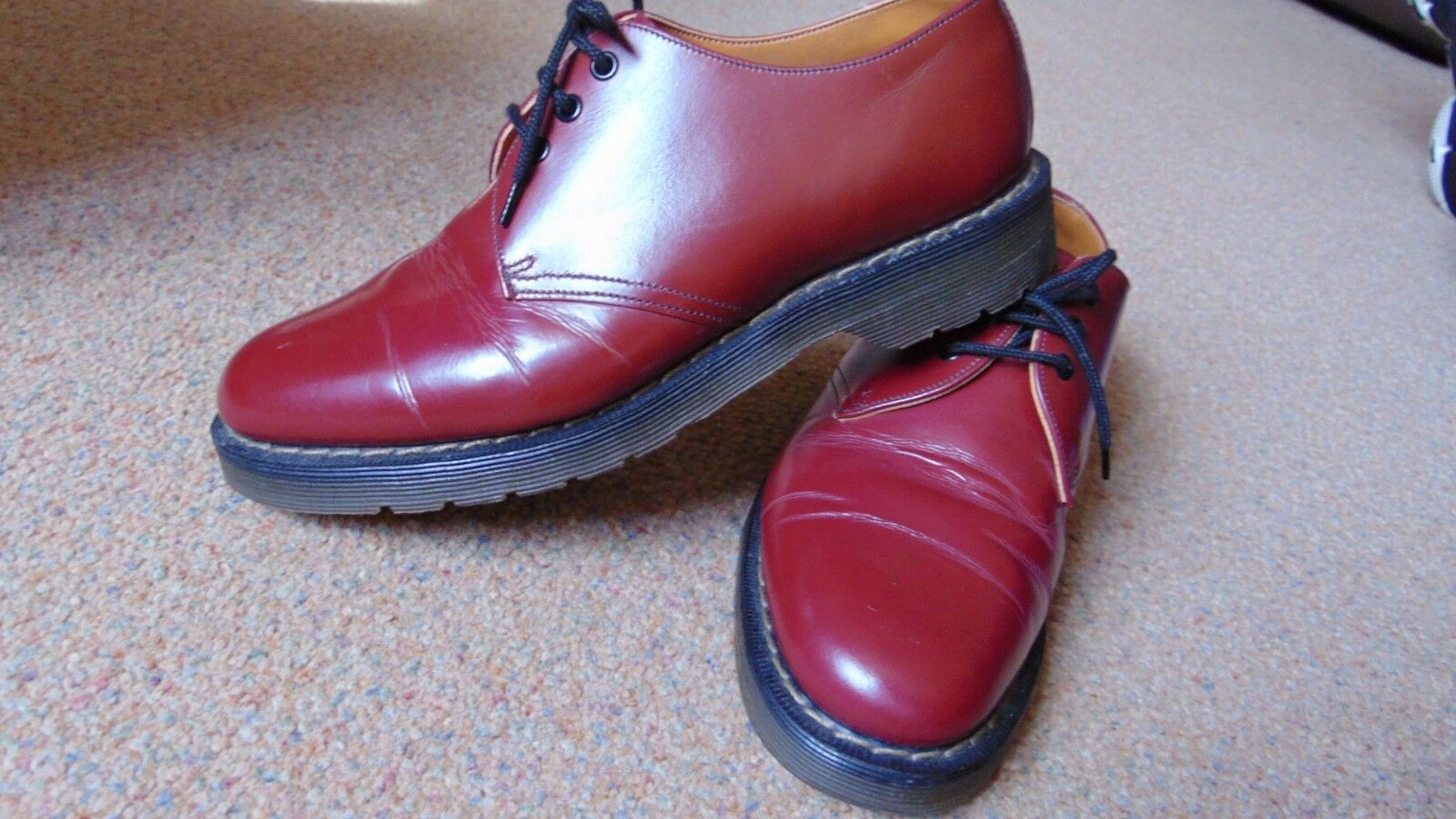 Rare Vintage Hawkins No 1, 3 Eye Leather Air Cushioned shoes Mod Skins 6 Oxblood