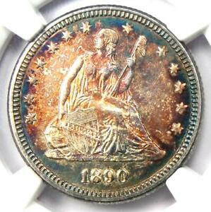 1890-Seated-Liberty-Quarter-25C-NGC-Uncirculated-Detail-UNC-MS-Rare-Coin