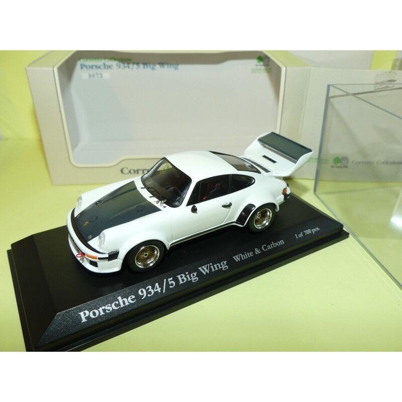 la calidad primero los consumidores primero Porsche Porsche Porsche 934 5 Big Wing blanco et Cochebon corretto Collezione 1 43  cómodamente