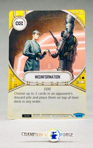 Star Wars Destiny Spark of Hope ~ Misinformation #44 Common