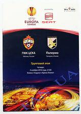 Official Program FC CSKA Moskva Moscow Russia - Palermo Italy Italia 2010/2011