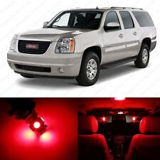 8 x Brilliant Red LED Interior Light Package For 2007 - 2013 GMC Yukon