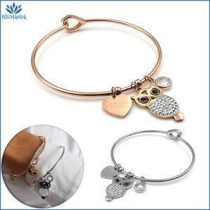 Bracciale-da-donna-rigido-con-cuore-gufo-in-acciaio-inox-zirconi-braccialetto-a