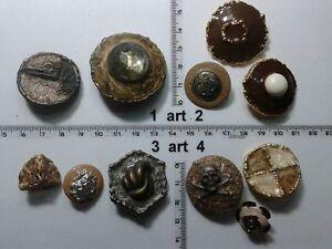 1-lotto-bottoni-gioiello-strass-smalti-perle-vetro-buttons-boutons-vintage-g9