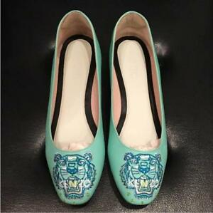 bcaa0c4f2b Details about KENZO Pumps Flat shoes Women Size 37 US 6 Very good condition  Tiger design F/S