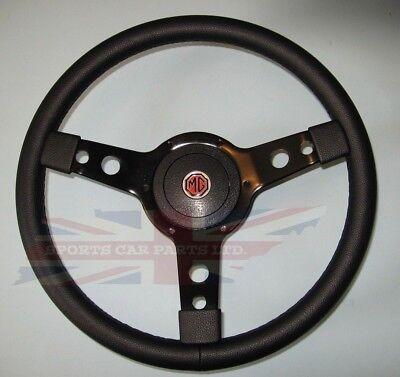 "New 14/"" Wood Steering Wheel and Adaptor for MGB 1963-1967 MG Midget 1964-1967"