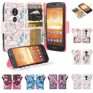 lowest price 4c245 7ab7e Details about For Motorola Moto G6 Play Case Slim Leather Magnetic Flip  Kickstand Wallet Cover