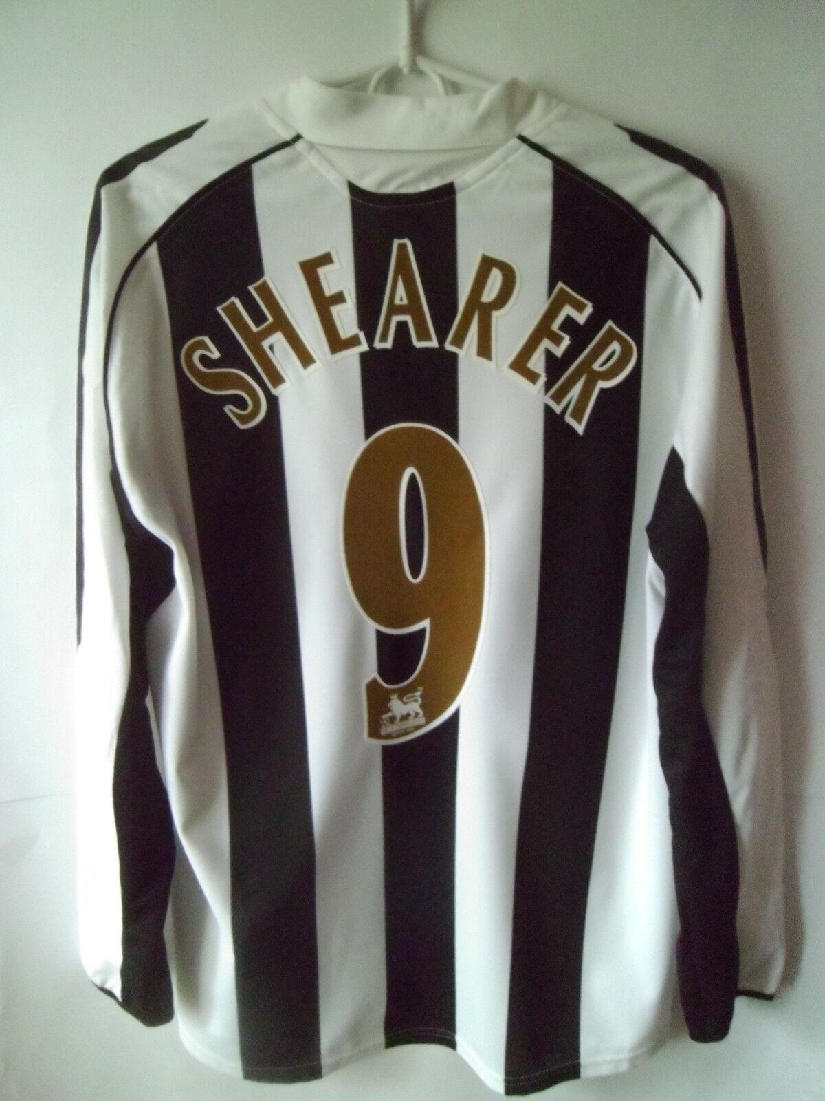 EXCELLENT       SHEARER     2005-07 Newcastle Home Shirt Jersey Trikot M 0d363a