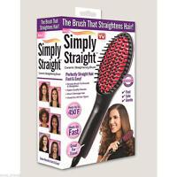 Simply Straight Ceramic Hair Straightener Brush As Seen On Tv Lcd Display