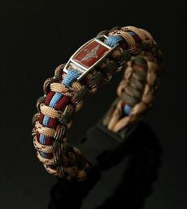 The-Parachute-Regiment-Badged-Forest-amp-Sand-Series-550-Paracord-Bracelet