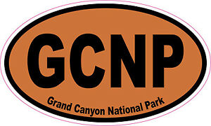 Grand Canyon National Park Oval Vinyl Sticker Decal 5x3