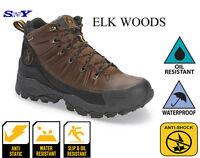 Elk Woods Men's Waterproof Work Boot Slip Resistant Shock Absorbing
