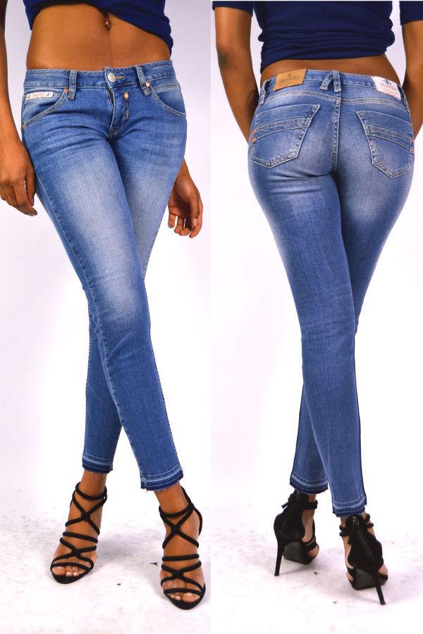 novedad  Herrlicher Touch slim cropped 7 8 jeans d9767 faded azul w30  online al mejor precio