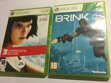 2 x PAL XBOX 360 GAMEs MIRRORS EDGE COMPLETE & BRINK BOXED