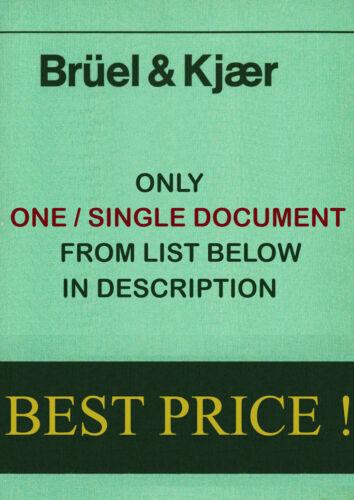 Test, Measurement & Inspection Bruel & Kjaer Service Instruction ...