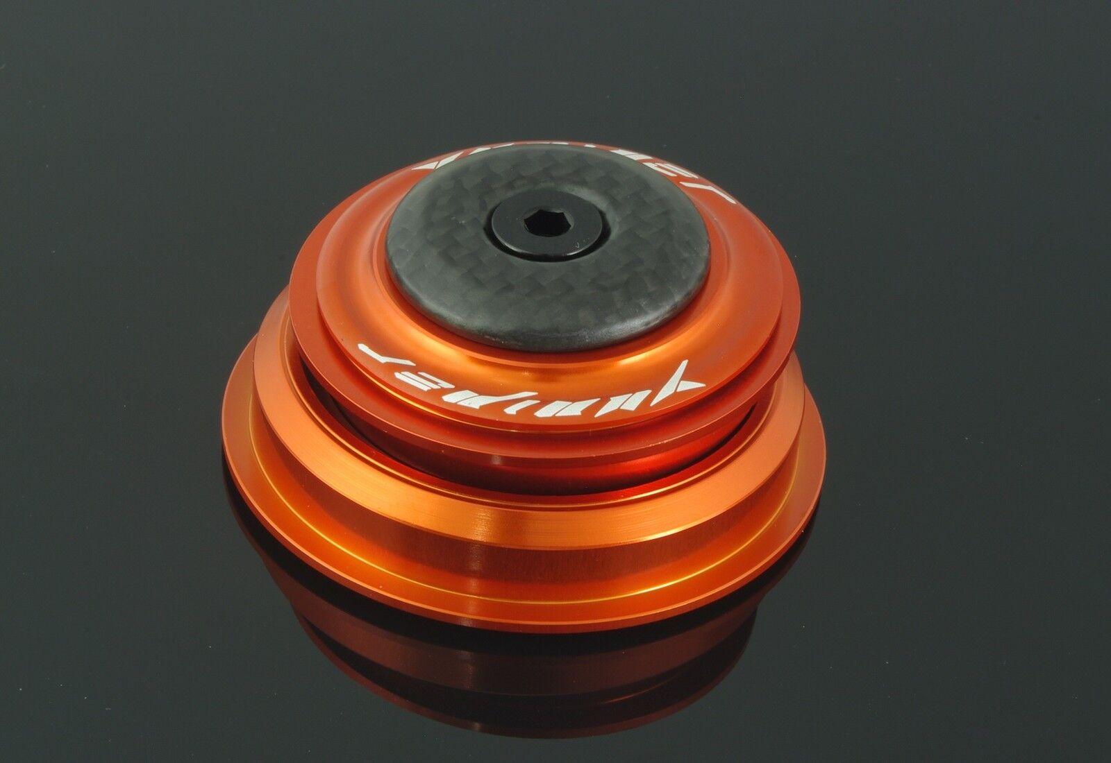 Yuniper TapeROT Steuersatz  87g 1 1/8 auf 1.5 Orange  56 mm  Carbon (tune it)