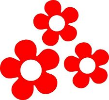 60's Flower Vinyl Decals Stickers for Car or Van (Red)