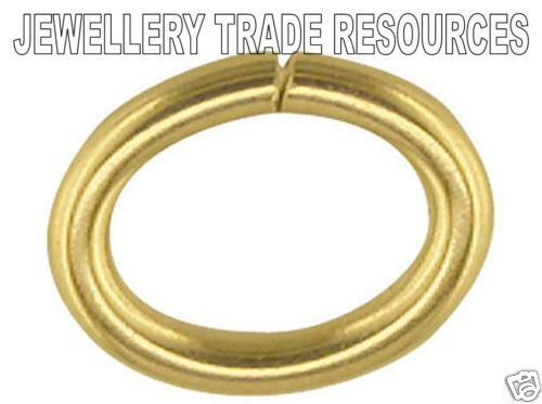 9ct Yellow Gold 6mm Oval Jump Ring Jewellery Making