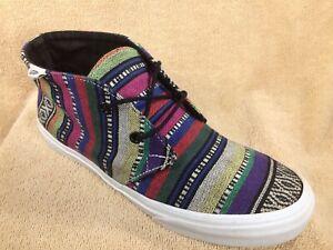 Details about VANS Chukka Canvas High Top Southwest Serape Blanket Aztec Shoes Men 7.5 Women 9