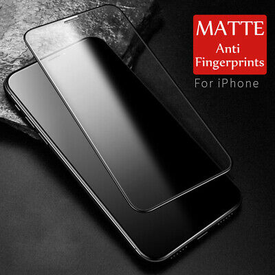 Anti Blue Ray Matte Tempered Glass for iPhone X XS MAX XR 6 7 8 Screen Protector