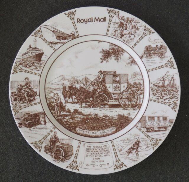 Coalport Bone China England Royal Mail Cabinet Commemorative Cabinet Plate 1984