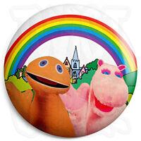 Rainbow - Zippy & George - 25mm Button Pin Badge - Retro Kids Cult TV Program